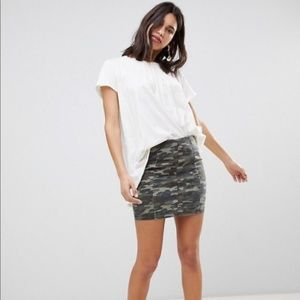 Free People Modern Feme Camo Mini Skirt